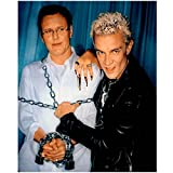 James Marsters as Spike Holding Anthony Head as Rupert Giles Hostage Buffy the Vampire Slayer Promo 8 x 10 Photo