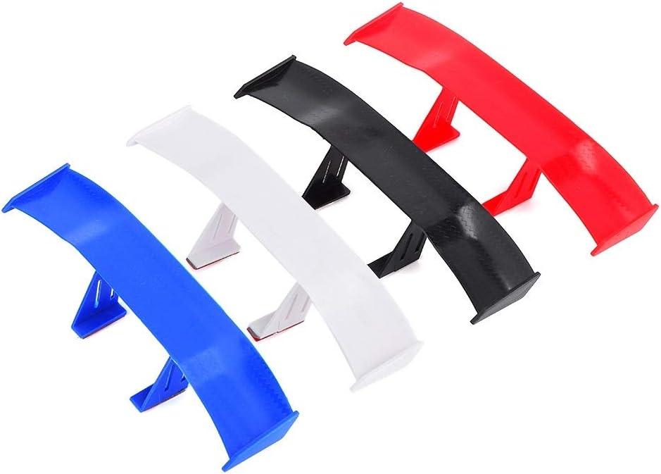 Car Spoiler Wing-4pcs Universal Mini Spoiler Rear Tail Wing Set No Punch Auto Carbon Fiber Texture Decoration
