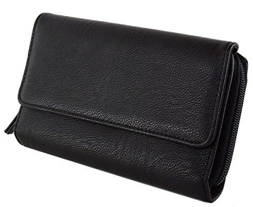 Mundi Womens Wallet Checkbook Organizer Clutch Big Fat Wallet RFID (Big Zip Wallet)