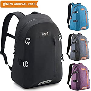 ZBRO Waterproof Travel Backpack for Women Men – Premium Durable Lightweight Laptop Notebook Backpack - Eco Friendly College Student School Business Backpack - Womens Mens Hiking Daypack Black