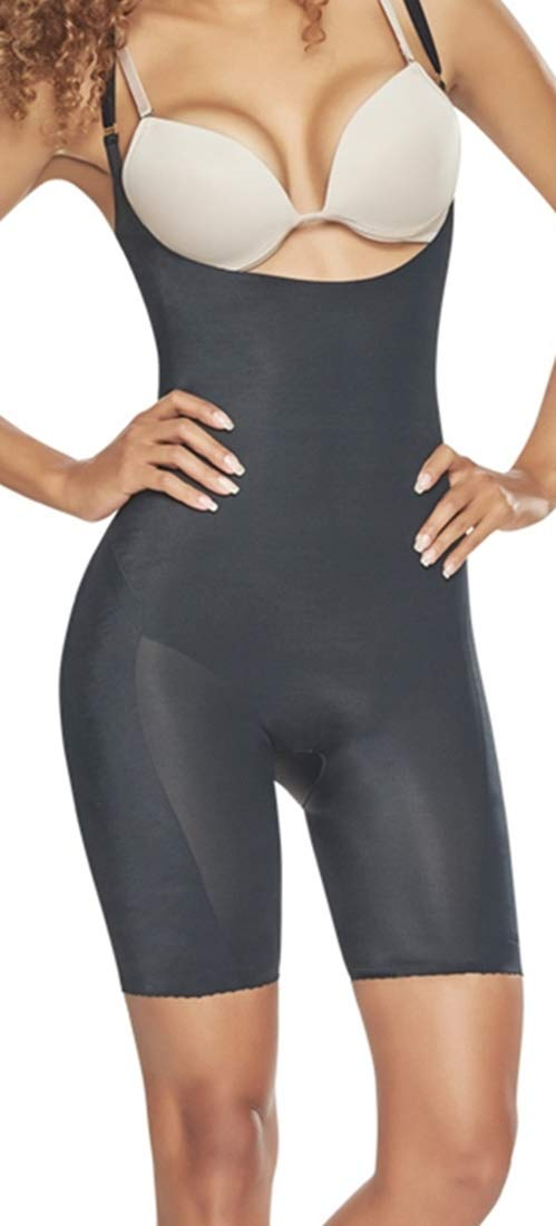 Corset Mujer Powernet Braless Body Girdle Capri Length Above The Knee Regula…