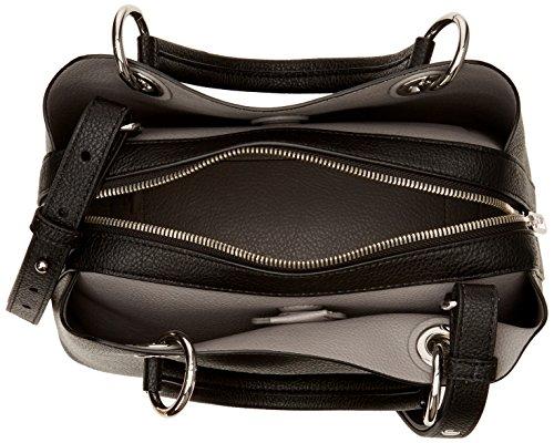 Tommy Med Women's Core Hilfiger Th Satchel Black Bag wrzqPwFx7