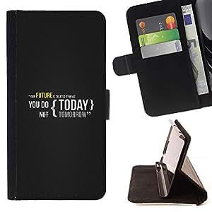 Momo Phone Case / Flip Funda de Cuero Case Cover - SU FUTURO ES HOY CREADO - Samsung Galaxy J3 GSM-J300