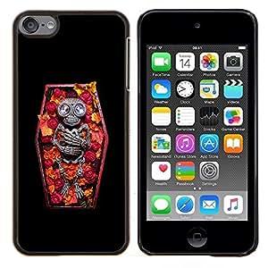 LECELL--Funda protectora / Cubierta / Piel For Apple iPod Touch 6 6th Touch6 -- Ataúd del vampiro floral primavera Esqueleto --