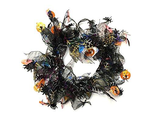 Pumpkin & Spider Web Halloween Decorative Dog Collar by Midlee (X-Large)