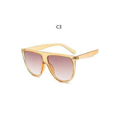 Woman Flat Top Shadow Oversized New Fashion Retro Designer Inspired Sunglasses