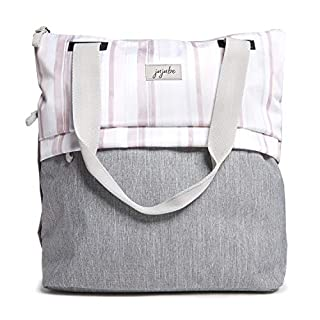 JuJuBe All Purpose Shoulder Tote Bag | Glacier Gray | Durable Waterproof Travel Bag with Exteriors & Interior Pockets, Lightweight Machine Washable Shoulder Bag, Gym Bag, Beach Bag or Diaper Bag