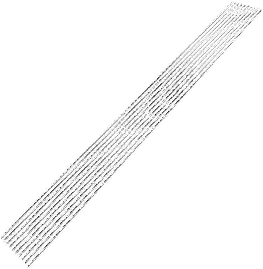 Adminitto88 Tiges de r/éparation en Aluminium avec Baguette de Soudure en Aluminium Pas Besoin de Poudre de Soudure Soudure TIG /Électrodes en tungst/ène /Électrodes en Aluminium