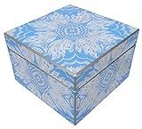Arcadia Home M1Sky Reverse Painted Mirror Box, Medium, Blue,Medium
