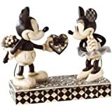 """Disney Traditions by Jim Shore Mickey and Minnie Mouse Figurine """"Real Sweetheart"""" (4009260)"""