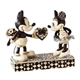 #6: Enesco Disney Traditions by Jim Shore Black & White Mickey & Minnie Mouse Stone Resin Figurine, 6""