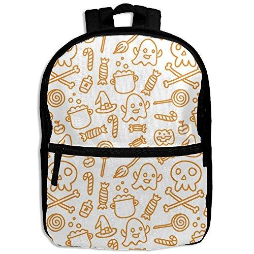 Personalized Halloween Ghost (Funny Halloween Pumpkin Ghost Personalized Waterproof School Backpack Bags Schoolbag Toddler Christmas Gift For Baby Girl In Kindergarten)