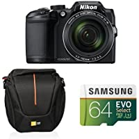 Nikon COOLPIX B500 Digital Camera (Black) Starter Bundle