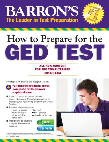How to Prepare for the GED® Test (with CD-ROM): All New Content for the Computerized 2014 Exam (Barron's GED)