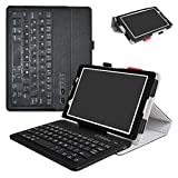 Lenovo Tab 4-8 Inch Bluetooth Keyboard Case,Mama Mouth Slim Stand PU Leather Cover with Romovable Bluetooth Keyboard for 8.0'' Lenovo Tab 4-8 Inch ZA2B0009US Android 7.1 Tablet,Black