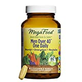 MegaFood, Men Over 40 One Daily, Daily Multivitamin and Mineral Dietary Supplement with Vitamins B, D and Zinc, Non-GMO, Vegetarian, 60 Tablets (60 Servings) (FFP)