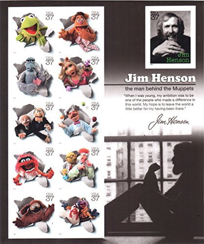 Jim Henson and the Muppets, Full Sheet of 11 x 37-Cent Postage Stamps, USA 2005, Scott (2005 Postage Stamps)