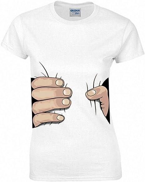 CWHao Camiseta de Mujer Americana con Personalidad de Moda para Mujer Camiseta de Manga Corta, Blanco, s: Amazon.es: Deportes y aire libre