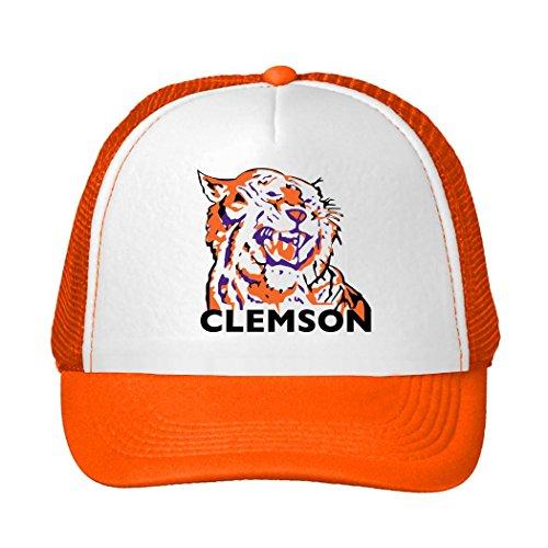 - MUKIY clemson tigers primary 2016 Design Trucker Hats adjustable hats Orange