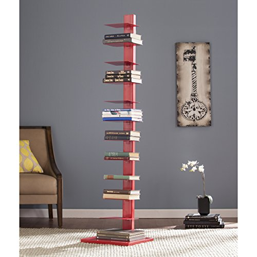 Spine Red - Spine Tower Shelf in Valiant Poppy