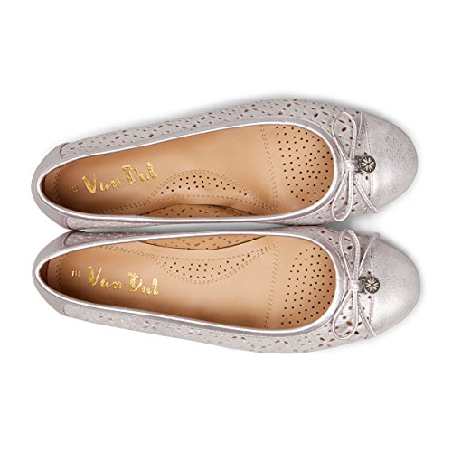 Van Dal Womens Wentworth X Wide Ballet Pumps Bamboo Metallic JgRUQTYBWF