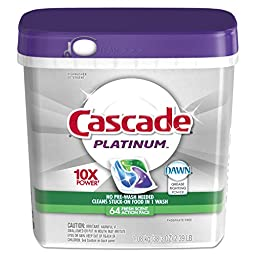 Cascade 91183 Platinum ActionPacs, Fresh Scent (Pack of 3)