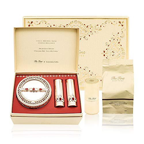 OHUI The First Geniture Ampoule Cover Cushion Ruby Holiday Edition [15g+Refill 15g] with FREE Lipsticks