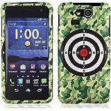Bundle Accessory for Verizon Kyocera Hydro Elite C6750 - LF Hard Case Protector Cover + Lf Stylus Pen + Lf Screen Wiper (Green Camo)