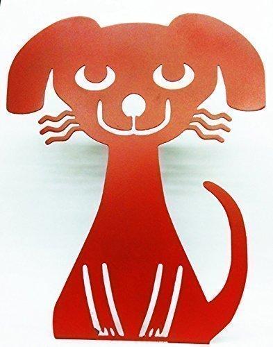 Chauncey The Dog Metal Garden Art Yard Metal Sculpture Dog Lovers Unique Gift Hand Made 11 Wide x 13 3/4 Tall