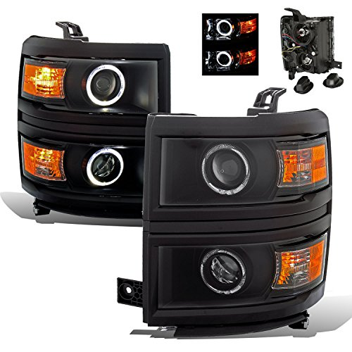 Passenger Side Projector (SPPC Projector Black Headlights Set for Chevy Silverado - Passenger and Driver Side)