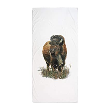 "KOPPPUu Watercolor Buffalo Bison Animal Art Beach TowelLarge Beach Towel, Soft 31""x51"""