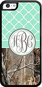 Country Girl Mint Quatrefoil Brown Camo Ing Monogram Case Cover For iPhone 6 (4.5) Case- Snaps on