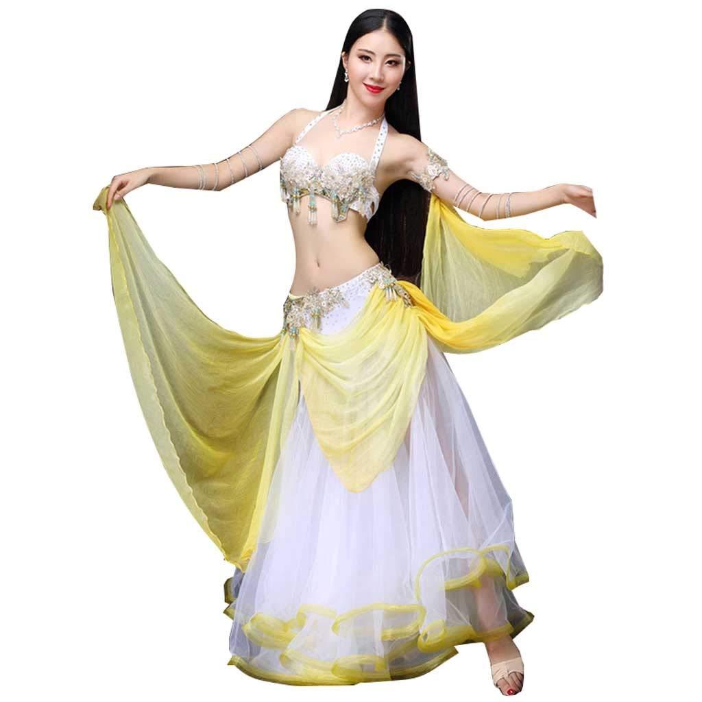 今季ブランド ベリーダンスの衣装セットオリエンタルダンス秋と冬のセクシーな妖精のダンスパフォーマンス衣装 M B07PT3R916 B07PT3R916 イエロー いえろ゜ いえろ゜ M, 水着通販:5e9b5a12 --- a0267596.xsph.ru