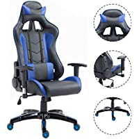 Officelax Racing Chair Gaming Chair High Back Reclining Swivel Executive Office Chair (blue)