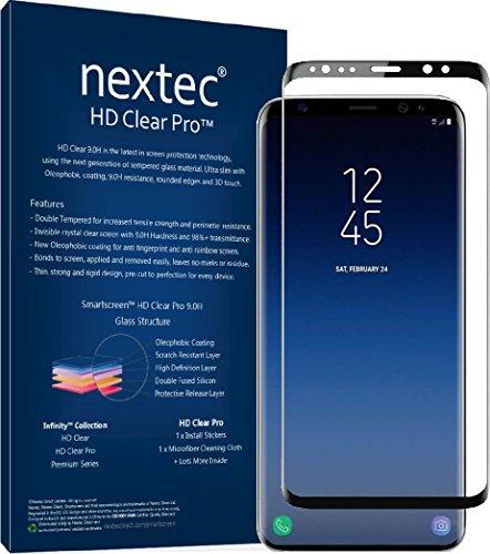 nextec Galaxy Note 8 Screen Protector, Samsung Galaxy Note 8 Glass Screen Protector (3D) Galaxy Note 8 Tempered Glass Screen Protector (HD Clear Pro 2.4) 9.0H/ Black - Corning Gorilla Glass by nextec (Image #2)