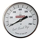 SmokeWare White Temperature Gauge for a Big Green Egg