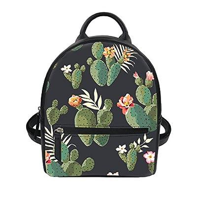 FOR U DESIGNS 3D Floral Pattern Women Pu Backpack Mini Girls Purse 60%OFF