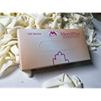 High Quality Latex Gloves (100 Pieces per Box) - Powdered, Non-Sterile, Food Safe (Large)
