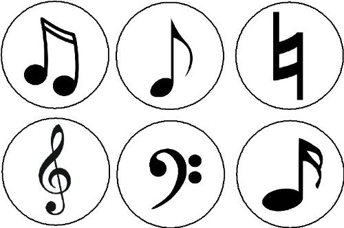 Amazon Set Of 6 Musical Symbols Magnets Music Musician Notes