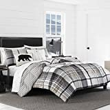 Black and Tan Comforter Sets King Eddie Bauer Normandy Plaid Comforter Set, King, Black
