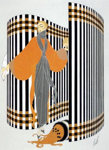 Coquette Huge Art Deco Print by Erte