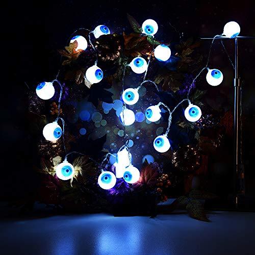 BOLUOYI Outdoor String Lights,Rope Lights Solar Powered,LED Halloween Creative DIY Handiwork Eye-Ball Shape Decorative Atmosphere Lamp
