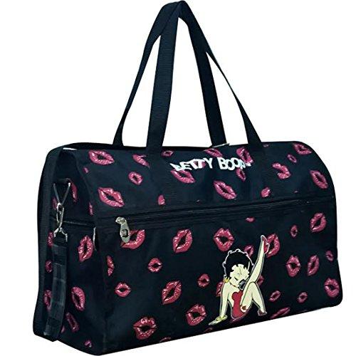 Cheap Betty Boop Canvas Black L 19″ Sport Travel Overnight Duffle Bag Sport kick
