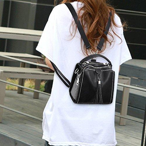 Sac Shopping Dos Sac Double Femme Personnalité PU Simple Voyage Sac à à à Bandoulière Campus Noir Bandoulière Mode ZCM wZ0Of