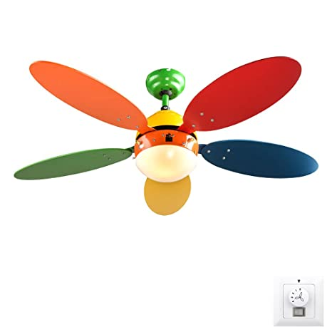 Design Ceiling Fan Train Switch Kids Room Fan Cooler Set Incl. Wall Switch:  Amazon.co.uk: Lighting