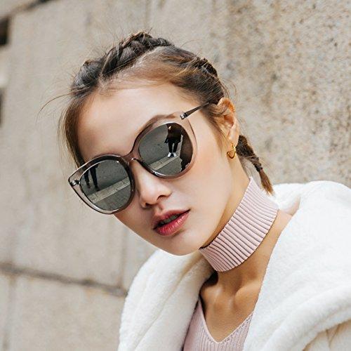 negro Transparent Caja Negro Protección Gafas Big Vviiyj Box De Silver Cara Solar Mujer Gris Sol Larga qBpFx