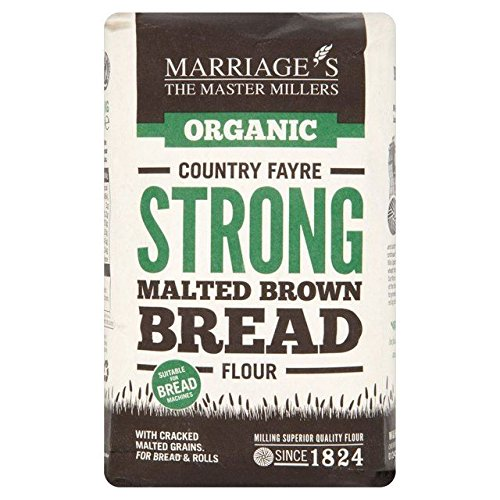 Marriage's Organic Strong Malted Brown Bread Flour 1kg