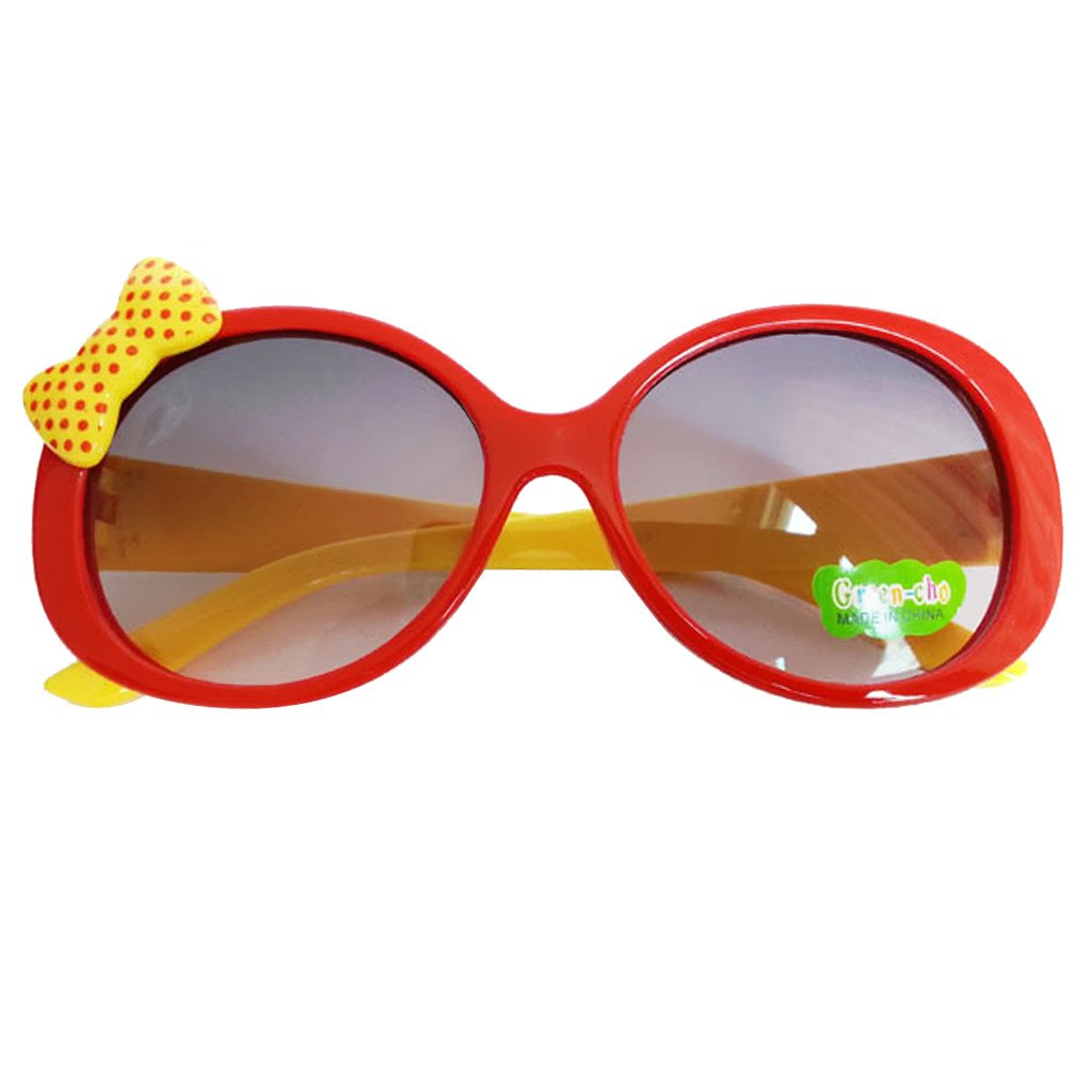 Kids Cute Fashion Bowknot Decoration Fun Sunglasses Gift Red Frame Generic STK0115018621
