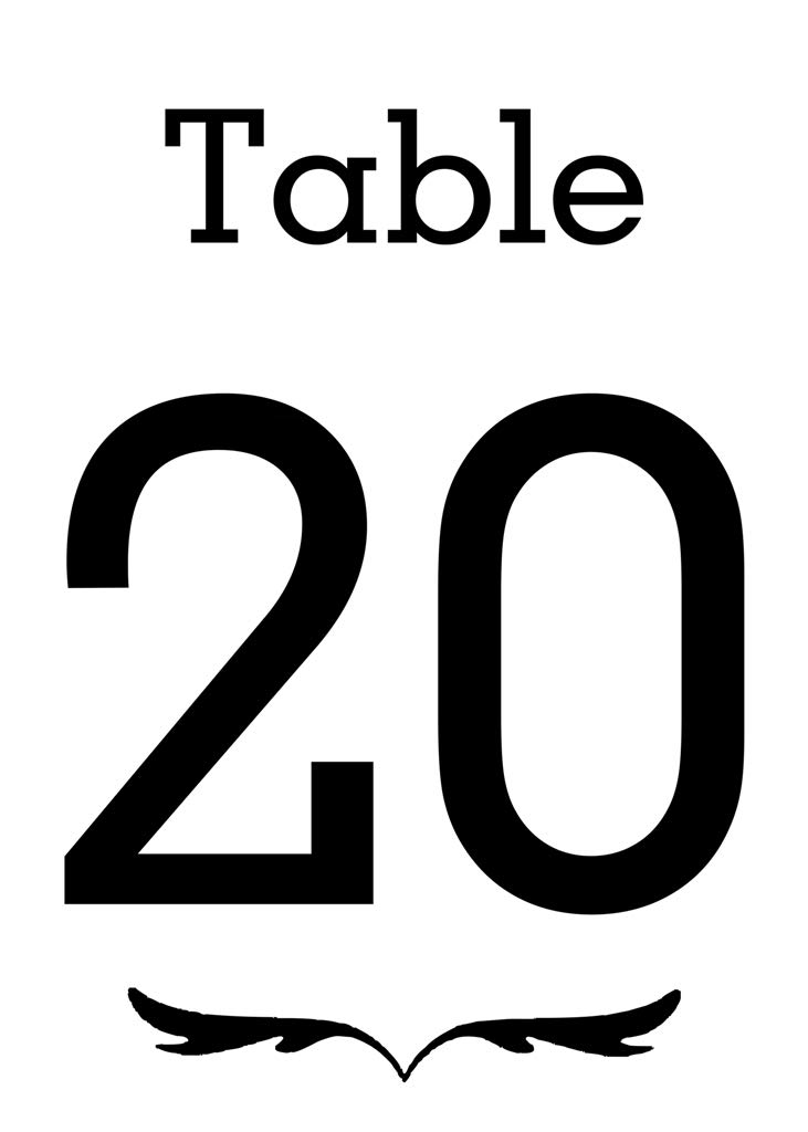 Paper Table Number Card for Restaurants and Cafes for Reserved Table Décor Wedding Gift Item 5 x 7 Inch