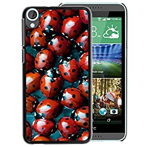 Planetar® ( Red Bug Spots Pattern Nature ) HTC Desire 820 Fundas Cover Cubre Hard Case Cover
